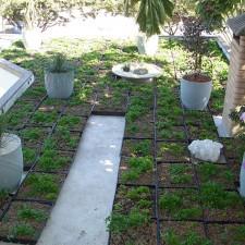 Sistema CVL recém instalado em laje de área de lazer de uma residência em Limeira