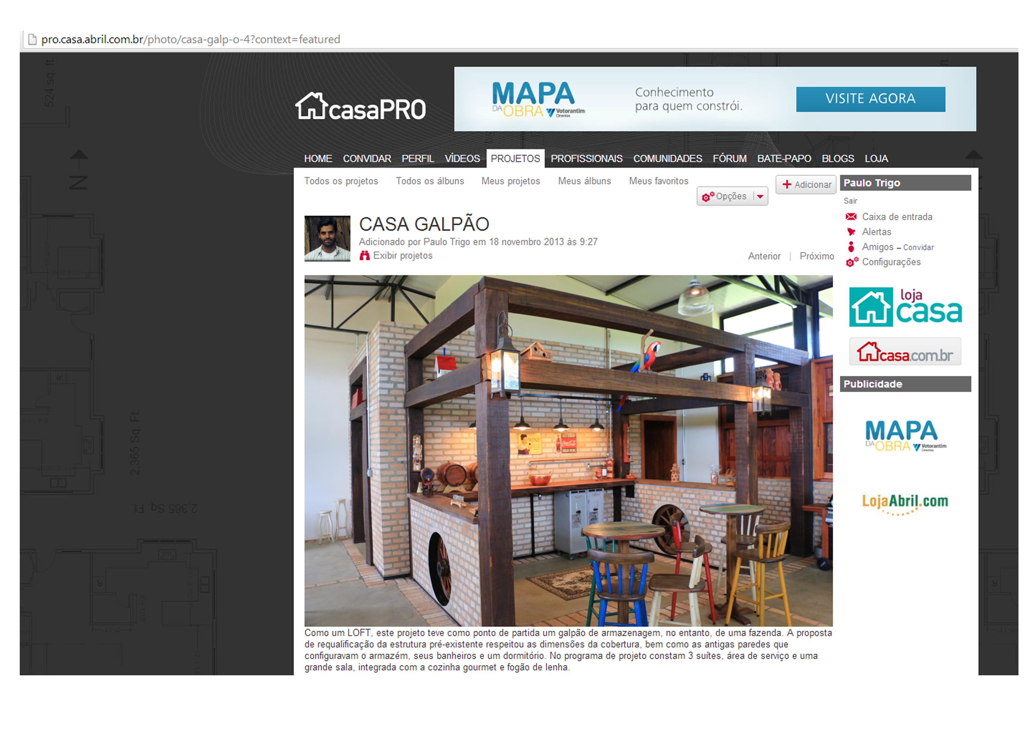 CASA GALPÃO (UM LOFT NO CAMPO) « TETO Arquitetura Sustentável e  #2A7EA1 3508x2480 Arquitetura Sustentavel Banheiro