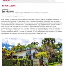 Revista Casa & Construção  n°.109, Editora Escala _Seção Paisagismo_Fachada Natural_ página 20_Outubro de 2014