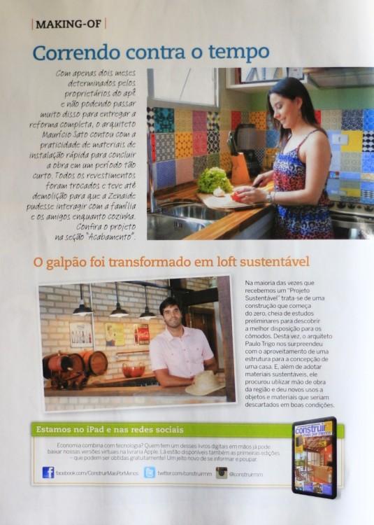 Revista Construir Mais por Menos n° 40, Editora Escala _Seção Jeitos de Morar_Projeto Sustentável_ página 04 _Fevereiro de 2014