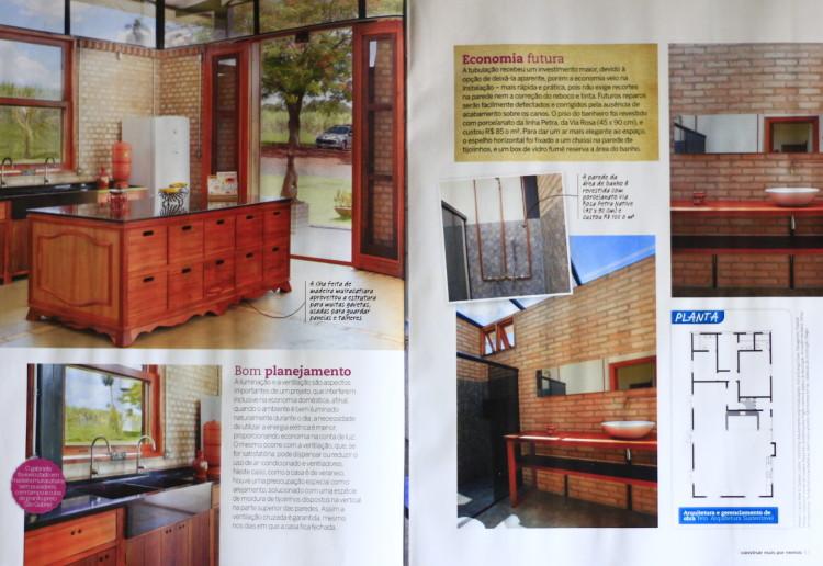 Revista Construir Mais por Menos n° 40, Editora Escala _Seção Jeitos de Morar_Projeto Sustentável_ páginas 42 e 43_Fevereiro de 2014