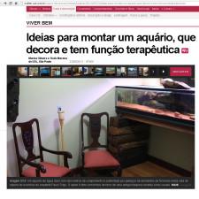 """SALA DO AQUÁRIO: Publicação no site da UOL, seção """"Casa & Decoração"""""""