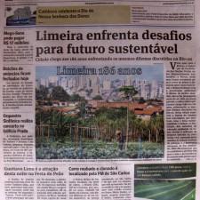 Gazeta de Limeira - Edição de Aniversário da Cidade, 15 de setembro de 2012 - LIMEIRA ENFRENTA DESAFIOS PARA FUTURO SUSTENTÁVEL