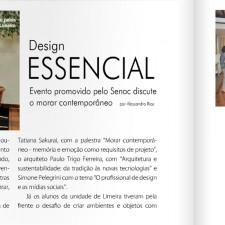 Revista Condomínios n° 23, Ed. Condomínios | Palestra na Semana do Design Essencial SENAC Limeira, páginas 94 e 95 | Novembro de 2012 |