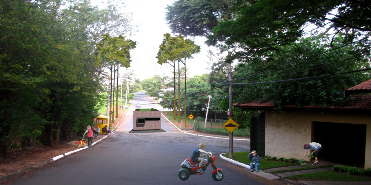 Vista de dentro do bairro