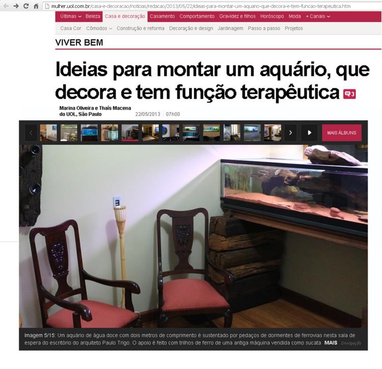 aquário site UOL Casa e Decoração