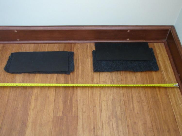 proteção do piso com feltro e borracha de alta densidade